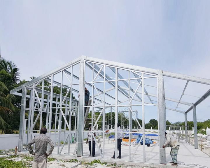 Steel structure buildings keep up with the trend of green development